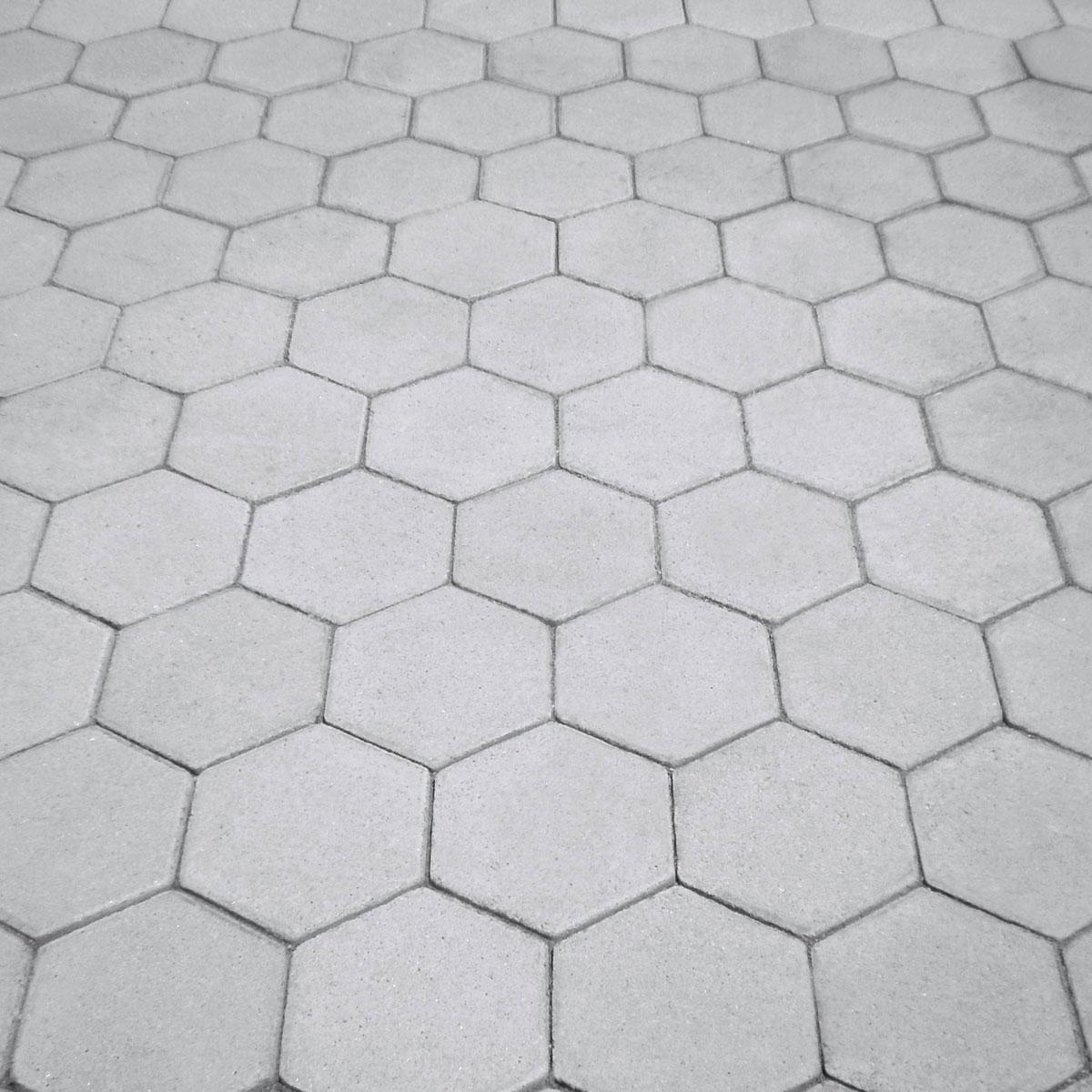piso bloquete sextavado